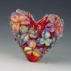 Love Garden  1 bead borosilicate/boro Kristan by redsidedesigns, $45.00