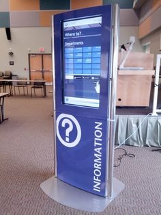 Wayfinding kiosks are becoming more widely used at healthcare facilities to provide patients with directions. This is one such kiosk - the Slabb X10
