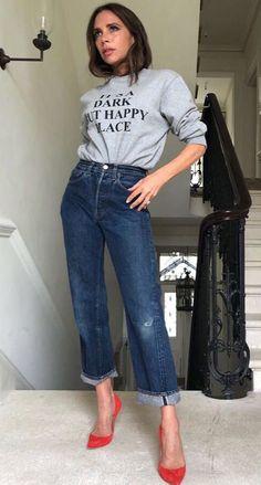 Victoria Beckham Dark But Happy Place Sweatshirt