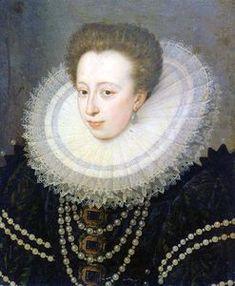 Christine de Lorraine portant la fraise Lorraine, Fine Art Prints, Framed Prints, Canvas Prints, Mode Renaissance, Portrait, 16th Century, A4 Poster, 500 Piece Puzzles