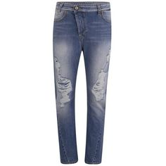 Vivienne Westwood Anglomania Women's New Boyfriend Jeans - Stonewashed... ($195) ❤ liked on Polyvore