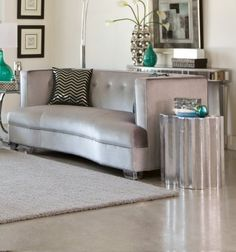 #manythings Caldwell silver velvet Loveseat has a kidney bean shape with pocket coil seats. This genuine #coaster furniture product comes finished in chrome. The...