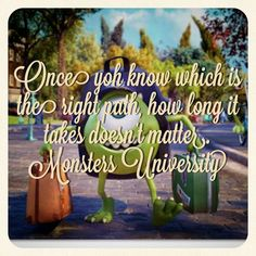 Monsters university never give up your dream