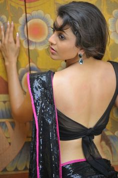 sari blouse; tie-back