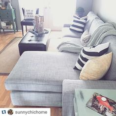 Let the sun and happiness shine on in! Your summer-y updates look great on our KIVIK sofa :) Gorgeous space @sunnychichome thanks for sharing! #IKEAUSA by ikeausa