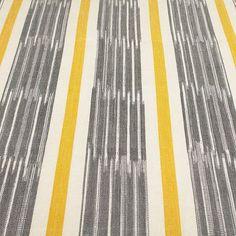 BuyJohn Lewis Woven Ikat Stripe Furnishing Fabric, Saffron Online at johnlewis.com