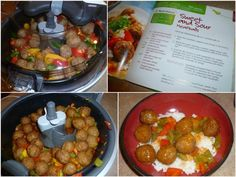 Sweet and Saucy Meatballs Recipe by ActiFry Tefal Actifry, Supper Recipes, Appetizer Recipes, Appetizers, Baked Avocado Fries, Crockpot Recipes, Cooking Recipes, Yummy Recipes, Multi Cooker Recipes