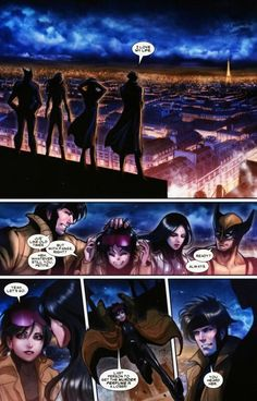 Gambit and Laura/X-23 anf Wolverine jubilee