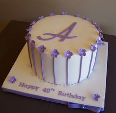 40th Birthday Cake Just because that is my initial! lol