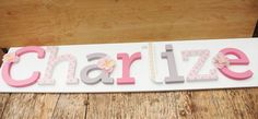 Wooden letter name // Hand painted and decorated by LoudFairyNL