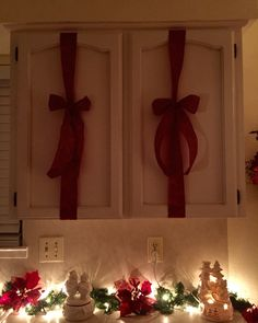 My Christmas kitchen cabinets