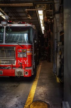 FDNY Firefighter Painting Fire house fire truck by ReburnDesigns Fire Dept, Fire Department, Ambulance, Firefighter Photography, Firefighter Humor, Truck Tattoo, Fire Photography, Police, Fire Apparatus