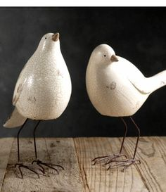 Nellie Birds White | Set of 3 Birds