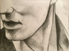 By GoldFinch :3  Pencil drawing of male jaw :P