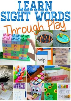 are the absolute best hands-on sight word activities! Learning sight words through play has never been more fun!These are the absolute best hands-on sight word activities! Learning sight words through play has never been more fun! Hands On Activities, Literacy Activities, Monster Activities, Teaching Resources, Baby Activities, Literacy Centres, Literacy Stations, Learning Through Play, Kids Learning