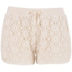 maurices Crocheted Lace Shorts found on Polyvore