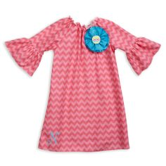 Lolly Wolly Doodle — Pink Chevron Charlotte Dress