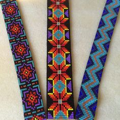 An Albuquerque based jewelry maker, specializing in bead loom work, peyote stitch, and fine silver jewelry. Native Beading Patterns, Peyote Beading Patterns, Loom Bracelet Patterns, Beadwork Designs, Bead Loom Bracelets, Bead Loom Patterns, Loom Beading, Beaded Hat Bands, Native American Beadwork