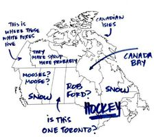 "Is this one Toronto?"" What happens when Americans try to label the provinces/territories of Canada. Canadian Things, I Am Canadian, Canadian Humour, Canada Funny, Canada Eh, Meanwhile In Canada, Really Funny, Toronto, Laughter"