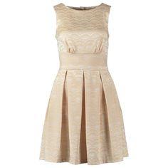 Mini jurk in het goud van Closet! Perfect voor de feestdagen! ♥