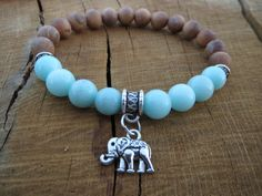 Check out this item in my Etsy shop https://www.etsy.com/listing/240337287/lucky-elephant-charm-bracelet-fragrant Yoga Bracelet, Stretch Bracelets, Elephant Gifts For Her, Bracelet Pierre, Gemstone Bracelets, Jewelry Bracelets, Jewelery, Yoga Jewelry, Diy Jewelry
