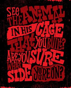 """Right Where It Belongs"" lyrics by NIN, typography by Jay Roeder"