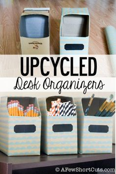 Upcycled Desk Organizers