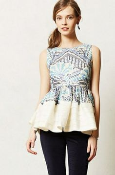 ANTHROPOLOGIE//Peplum Top