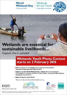 February 2 - World Wetlands Day World Wetlands Day, Photo Contest, Sustainability, February, Pageant Photography, Photography Challenge, Sustainable Development