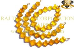 Yellow Chalcedony Faceted Flower (Quality AAA) Shape: Flower Faceted Length: 18 cm Weight Approx: 16 to 18 Grms. Size Approx: 12.5 to 14 mm Price $35.70 Each Strand