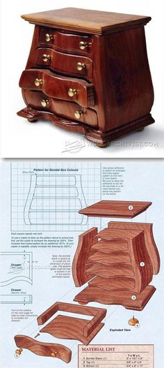 Bombe Jewelry Box Plans - Woodworking Plans and Projects | WoodArchivist.com