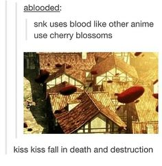 Attack on titan and ouran highschool host club! This is even funnier as I've literally just finished both shows! XD
