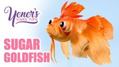 NEW Yeners Cake Tip! -Easy SUGAR GOLDFISH Tutorial -