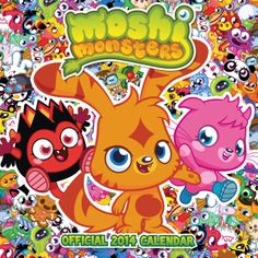 Official Moshi Monsters 2014 Calendar (Calendars by Danilo Moshi Monsters, Calendar 2014, Anime Fnaf, Photo Wall Collage, Aesthetic Wallpapers, Nostalgia, Childhood, Presents, Mini