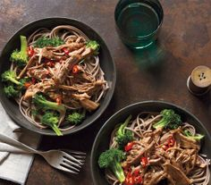 Asian Pork With Noodles and Broccoli recipe