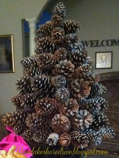 How to make a pine cone tree