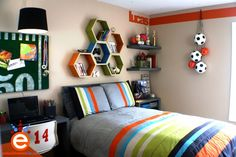 Cool Sports Themed Bedroom Designs for Boys