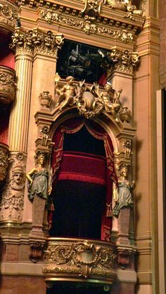 https://flic.kr/p/aL5kLM | Box across from the Emperor's Box | This was to have been the box for the Empress.  Palais Garnier, Paris