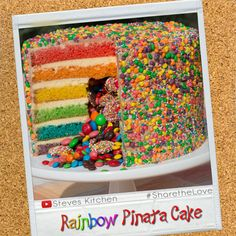 Rainbow cake and a Pinata! Wow!  Now this is a great cake because who doesn't like a surprise    Watch how to make this fantastic Rainbow Pinata Surprise Cake here: https://youtu.be/LIu_0-7JOvg
