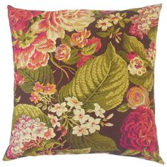 Kalonice Down and Feather Filled 18 - inch 18-inch Throw Pillow