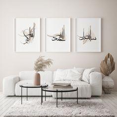 Islamic Wall Decor, Islamic Art, Christian Wall Decor, Above Bed Decor, Islamic Posters, Islamic Quotes, 3 Piece Wall Art, Bible Verse Wall Art, Islamic Gifts