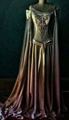 Gold & Purple Renaissance Gown..