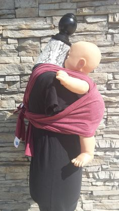 UCHI Twist Baby Carrier, hybrid baby carrier, wrap-less, breathable lightweight cranberry heather modal jersey, no fuss baby wrap by UchiWraps on Etsy Kangaroo Care, Mamas And Papas, Pregnant Mom, Baby Wraps, New Moms, Bump, Cotton, Etsy, Fashion