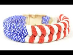 Make a Patriotic Paracord Survival Bracelet - BoredParacord.com - YouTube