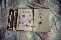 press flowers in the pages of a faith journal