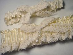 Victoria Garter  Ivory Satin & Lace by BespokeBridalSA on Etsy, $25.00