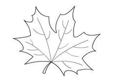 Molde hoja de otoño