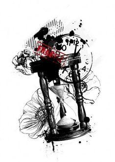 Tattoo Trash, Trash Polka Tattoo, Time Tattoos, Cool Tattoos, Forearm Tattoos, Stencils, Tattoo Designs, Batman, Ink