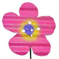 These flowers are 100% handcrafted from up-cycled corrugated roofing tin. $10.00