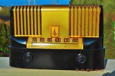 Beautiful Raymond Loewy Art Deco 1946 48 Emerson 561B Tube Radio Works | eBay